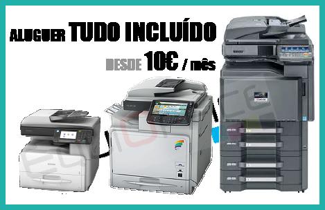 Aluguer Impressora Multifunções Mono A4 desde 10€ por mês